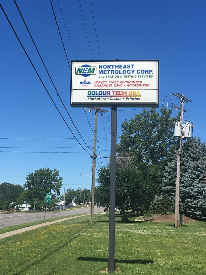 Northeast Metrology Corp. Street Sign