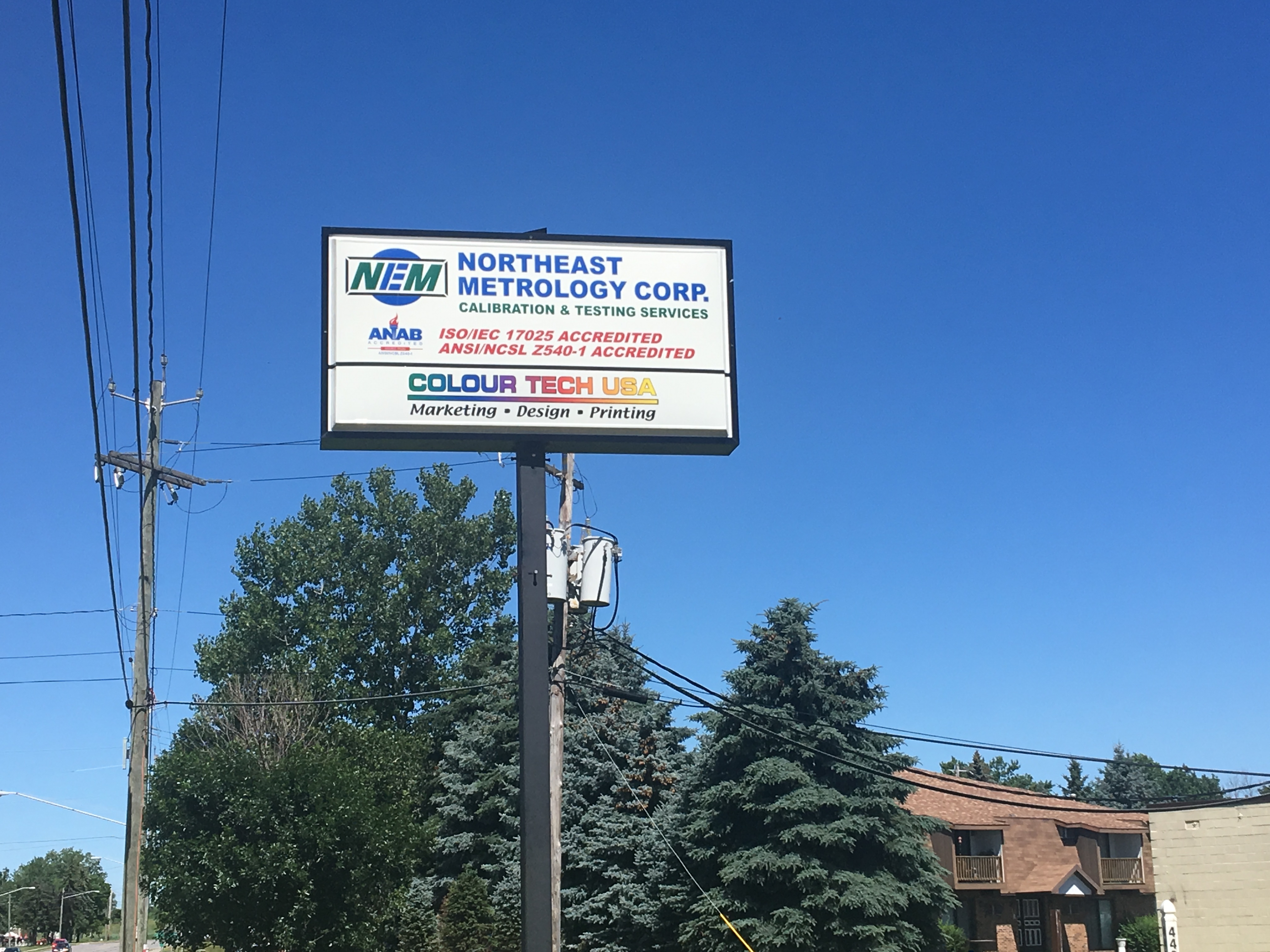 Northeast Metrology Corp. company sign